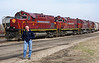 8th March 2008; Couldn't resist posing in such stellar company, the Alco C420s of the Arkansas & Missouri at Monett, MO