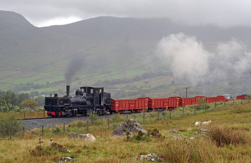 K1 on the final approach to Rhyd Ddu from where it returned to Caernarfon.