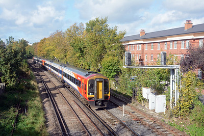 It was followed by a pair of 159s on SWT 1L32 08:58 Honiton to Waterloo