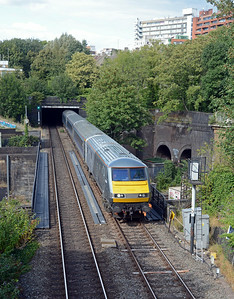 It was followed a couple of minutes later by the 13:55 Birmingham Moor Street to Marylebone crossing the WCML...