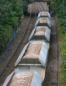 The train was carrying fine sand for London Concrete's Ferme Park plant.