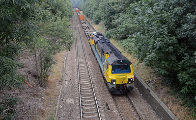 It was followed by 70020 on a very lightly loaded 4M56 London Gateway to Crewe, here at Ormond Road.