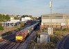 35 minutes later 67023 on the 17:50 to Banbury passing a solitary shaft of sunlight as it charges past Neasden station.